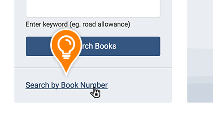 The Search by Book Number link is highlighted